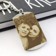 Keychain with photo engraving